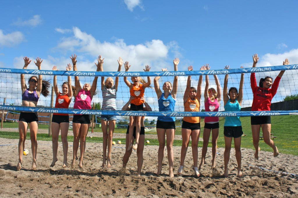 VolleyGirls Beach Volleyball Summer Camps. Fun in the sun with friends.