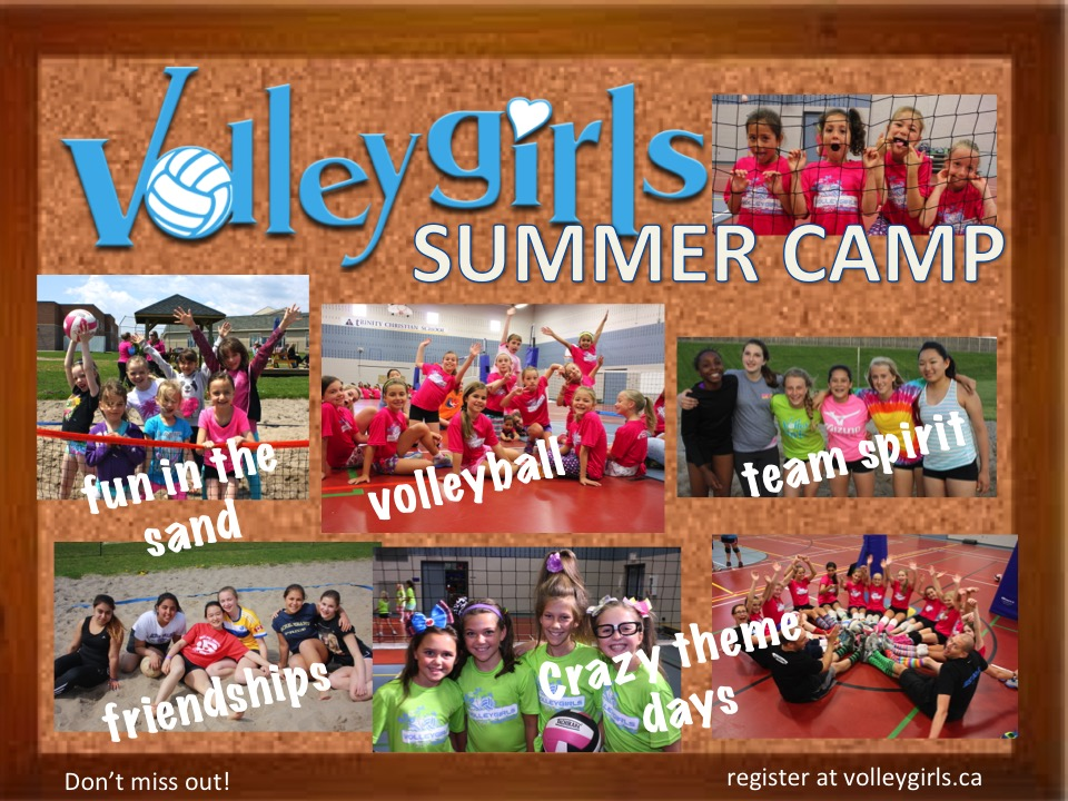 Volleygirls Volleyball Girls Summer Camps, Indoor volleyball, Beach volleyball sports camp, kids camps ontario, burlington summer camp